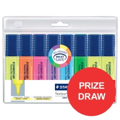 Staedtler Textsurfer Classic 364 (2.5 - 4.7mm) Highlighter Pens (Assorted Colours) 1 x Pack of 6 with 2 FREE (Assorted) Highlighter Image