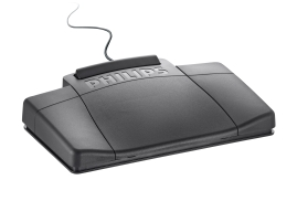 Philips LFH 2210 Foot Control Ergonomic Slim for Dictation Transcription Kits 720 725 730