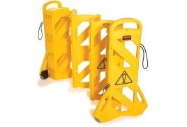 Rubbermaid Mobile Barricade System Portable Indoor Use 16 Panels 15kg 4m (Yellow)