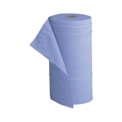 5 Star Facilities (40m) Hygiene Roll 10 inch Width 50% Recycled 2-Ply 130 Sheets (Blue) Image