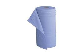 5 Star Facilities (40m) Hygiene Roll 10 inch Width 50% Recycled 2-Ply 130 Sheets (Blue)