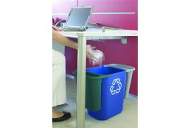 Rubbermaid (26.6L) Medium Deskside Recycling Container (Blue) with Universal Recycle Symbol