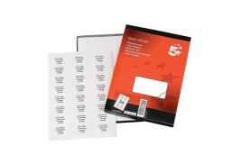 5 Star Office Multipurpose Labels Laser 24 per Sheet 64x34mm White (2400 Labels)