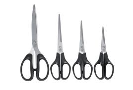 5 Star Office Scissors (140mm) Stainless Steel Blades ABS Handles (Black)