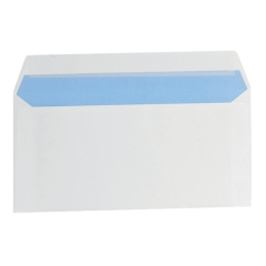 5 Star Office Envelopes Wallet Peel and Seal 100gsm White DL [Pack 500] Image