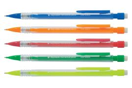 5 Star Office Refillable Mechanical Pencil Retractable with 0.7mm Lead Assorted Barrels [Pack 10]
