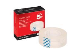 5 Star Office Crystal Tape Roll Easy-tear Permanent Secure 18mm x 33m