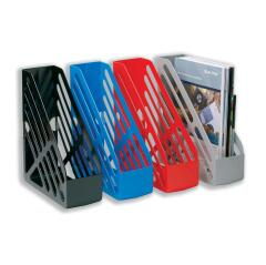5 Star Office Magazine Rack File Foolscap Red Image