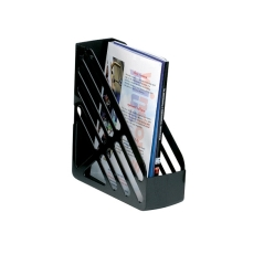 5 Star Office Magazine Rack File Foolscap Black Image
