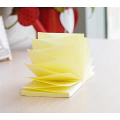 5 Star Office Re-Move Notes Concertina Pad of 100 Sheets 76x76mm Yellow [Pack 12] Image