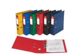 5 Star Office (Foolscap) Lever Arch File Polypropylene Capacity 70mm (Red) Pack of 10