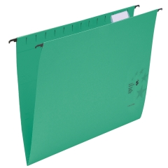5 Star Office (Foolscap) Suspension Files Manilla Heavyweight with Tabs and Inserts (Green) Pack of 50 Image