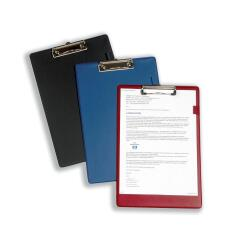 5 Star Office Standard Clipboard with PVC Cover Foolscap Black Image