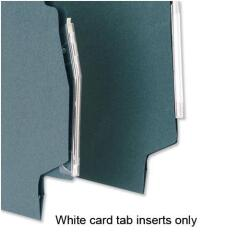 5 Star Office Inserts Card for Lateral File Tabs White [Pack 50] Image