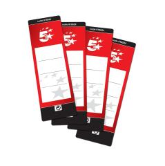 5 Star Office Spine Labels for Lever Arch File Self-adhesive 190x60mm (10 Labels) Image