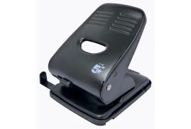 5 Star Office 2-Hole (40 x 80g/m2) Metal Hole Punch (Black) with Plastic Base