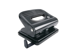 5 Star Office 2-Hole (18 x 80g/m2) Metal Hole Punch (Black) with Plastic Base