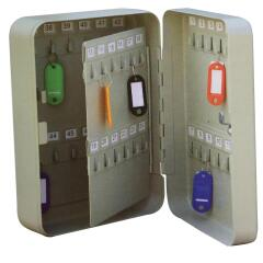 5 Star Facilities Key Cabinet Steel Lockable with Wall Fixings Holds 48 Keys W180xD80xH250mm Image
