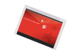5 Star Office (A3) Polypropylene Stud Wallet Envelope (Clear) Pack of 5