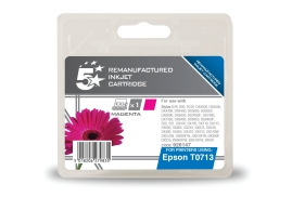 5 Star Office Remanufactured Epson T0713 Alternative (Yield: 280 Pages) Magenta Inkjet Cartridge