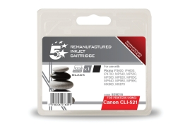 5 Star Office Remanufactured Canon CLI-521BK Alternative (Yield: 425 Pages) Black Inkjet Cartridge
