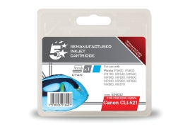 5 Star Office Remanufactured Canon CLI-521C Alternative (Yield: 470 Pages) Cyan Inkjet Cartridge
