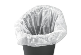 5 Star Facilities(40 Litre)  Swing Bin Liner Light Duty 7.5 Micron White (Pack 1000)
