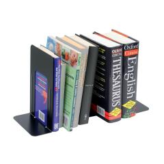 5 Star Heavy Duty (180mm) Metal Bookends (Black) Set of 2 Image