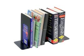 5 Star Office Heavy Duty (180mm) Metal Bookends (Black) Set of 2