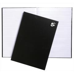 5 Star Office Notebook Casebound Hard Cover Ruled 80gsm A4 Black [Pack 5] Image