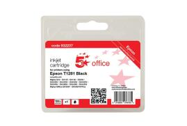 5 Star Office Remanufactured Epson T1281 Alternative (Yield: 190 Pages) Black Inkjet Cartridge