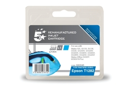 5 Star Office Remanufactured Epson T1282 Alternative (Yield: 250 Pages) Cyan Inkjet Cartridge