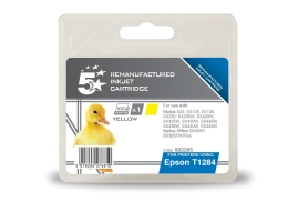 5 Star Office Remanufactured Epson T1284 Alternative (Yield: 230 Pages) Yellow Inkjet Cartridge