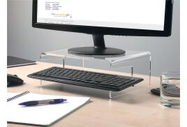 5 Star Monitor Stand Acrylic Capacity 21inch W300xD230xH120mm Clear