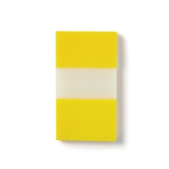 5 Star Office Standard Index Flags 50 Sheets per Pad 25x45mm Yellow [Pack 5] Image