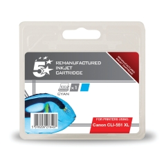 5 Star Office Remanufactured Canon CLI-551XLC Alternative (High Yield: 700 Pages) Cyan Inkjet Cartridge Image
