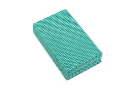 5 Star Facilities Cleaning Cloth Anti-microbial 40gsm W500xL300mm Wavy Line Green (Pack of 50)