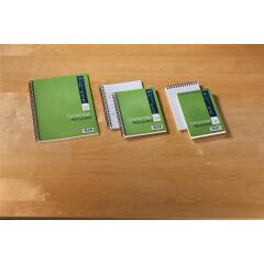 Cambridge (125mm x 200mm) Notebook Wirebound Recycled 160 Pages 70g/m2 Ruled Perforated Card Cover (Pack 10) Image