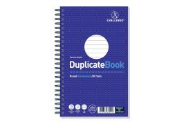 Challenge (210mm x 130mm) 50 Sheets Wirebound Ruled Perforated Duplicate Book (Blue)