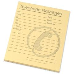 Challenge Telephone Message Pad 80 Sheets 102x127mm Yellow (Pack of 10) Image