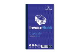 Challenge Taped Duplicate Book Carbonless Invoice without VAT 100-Sets 210x130mm (Pack of 5)