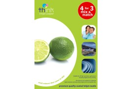 Think A4 Photo Paper - Gloss, 160gsm (Medium Weight), 20 Sheets