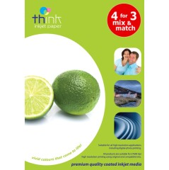 Think Self Adhesive Label - A4, Gloss, 140gsm (Light Weight), 20 Sheets Image