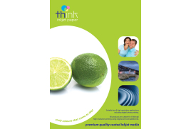 Think Self Adhesive Label - A4, Gloss, 140gsm (Light Weight), 20 Sheets