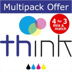 Think Alternative Multipack - Brother compatible LC3217 Black, Cyan, Magenta & Yellow Image