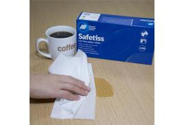 AF Safetiss Lint Free Ply Paper Cleaning Wipes (Pack of 200 Wipes)