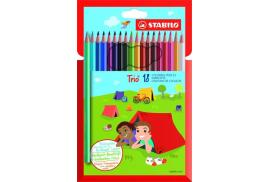 STABILO Trio Thin Colouring Pencil (Assorted Colours) Pack of 18