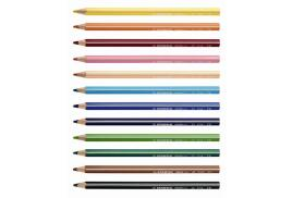 STABILO Trio Thick Colouring Pencil (Assorted Colours) Pack of 12