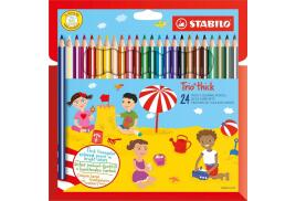 STABILO Trio Thick Colouring Pencil (Assorted Colours) Pack of 24