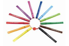STABILO Cappi Felt Pen with Cap Ring (Assorted Colours) Pack of 12